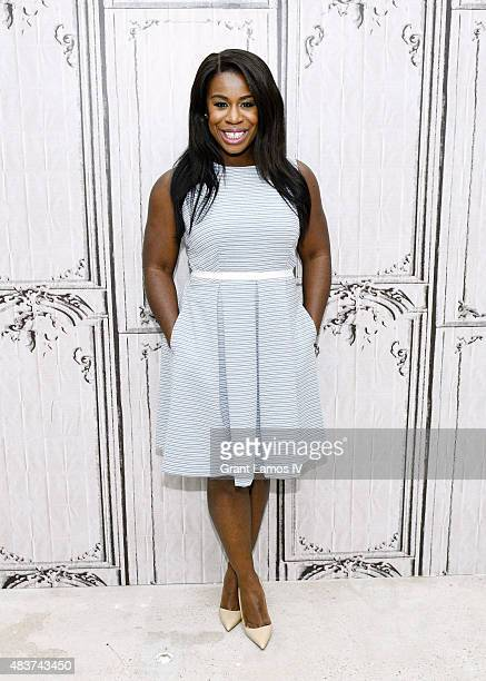 Uzo Abuda attends the AOL Build Presents Orange Is The New Black at AOL Studios in New York on August 12 2015 in New York City