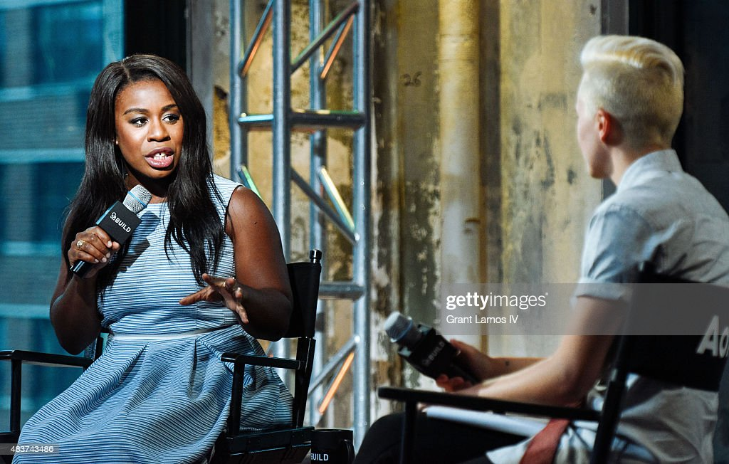 Uzo Abuda attends the AOL Build Presents: 'Orange Is The New Black' at AOL Studios in New York on August 12, 2015 in New York City.
