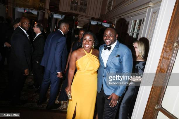 Uzo Aduba and Brian Tyree Henry attend the Tony Awards Gala at the Plaza on June 10 2018 in New York New York