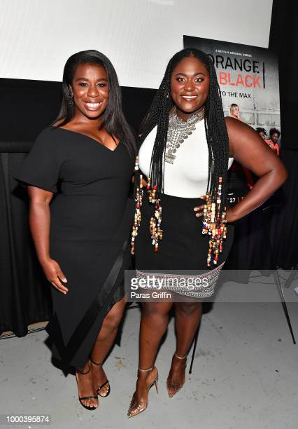 Uzo Aduba and Danielle Brooks attend Orange Is the New Black 6th season Atlanta screening and QA at Landmark Midtown Arts Cinema on July 16 2018 in...