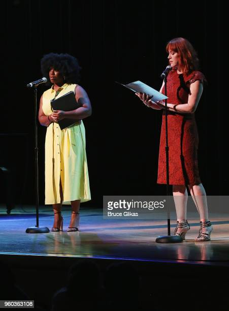 Uzo Aduba and Molly Ringwald perform in the New York debut of the hit show 'Letters Live' at Town Hall on May 19 2018 in New York City