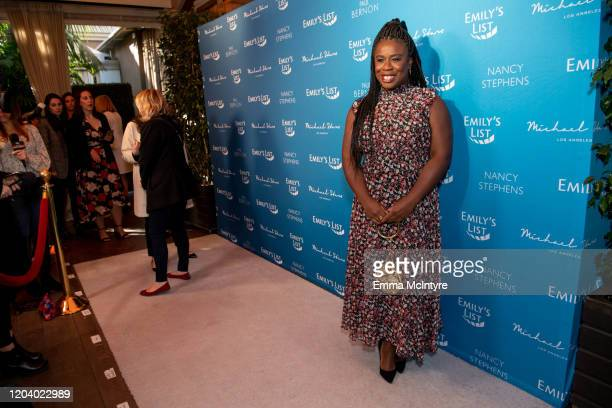 Uzo Aduba arrives at Emily's List 3rd annual pre-oscars event at Four Seasons Hotel Los Angeles at Beverly Hills on February 04, 2020 in Los Angeles,...