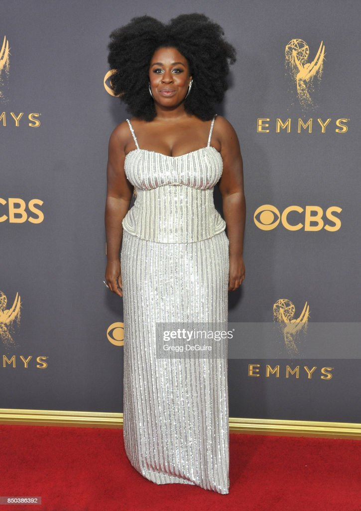 Uzo Aduba arrives at the 69th Annual Primetime Emmy Awards at Microsoft Theater on September 17, 2017 in Los Angeles, California.