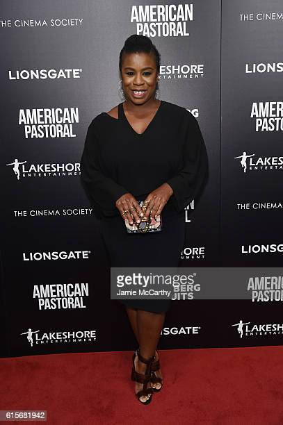 Uzo Aduba attends a screening of American Pastoral hosted by Lionsgate Lakeshore Entertainment and Bloomberg Pursuits at Museum of Modern Art on...