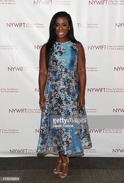 Uzo Aduba attends the 2015 New York Women In Film Television Designing Women Awards Gala at Scholastic Auditorium on May 28 2015 in New York City