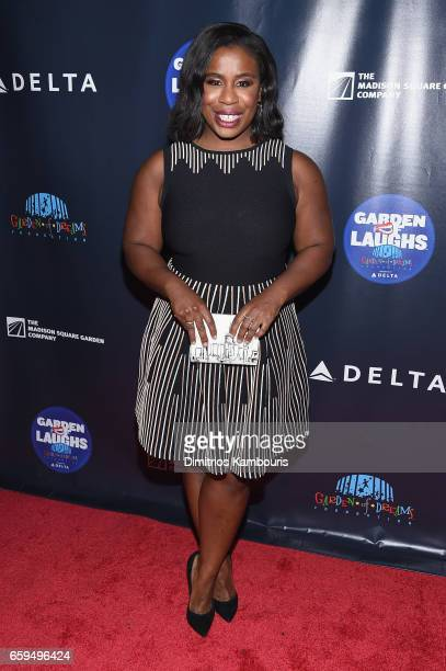 Uzo Aduba attends the 2017 Garden Of Laughs Comedy Benefit at The Theater at Madison Square Garden on March 28 2017 in New York City