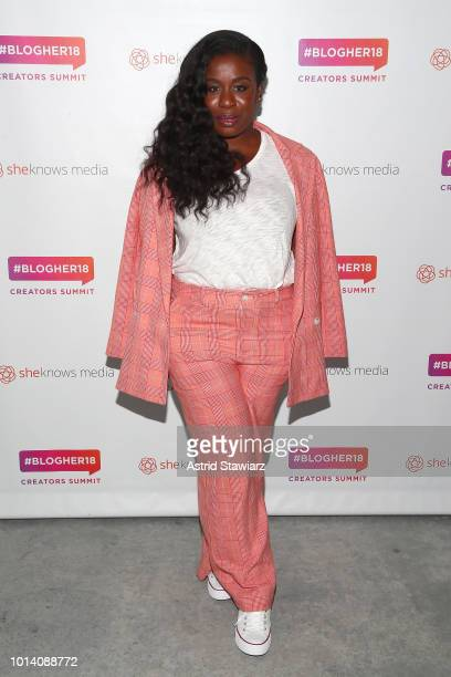 Uzo Aduba attends the #BlogHer18 Creators Summit at Pier 17 on August 9 2018 in New York City