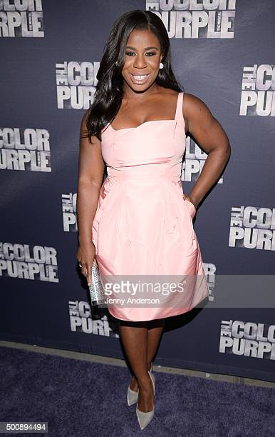 Uzo Aduba attends The Color Purple Broadway opening night at the Bernard B Jacobs Theatre on December 10 2015 in New York City