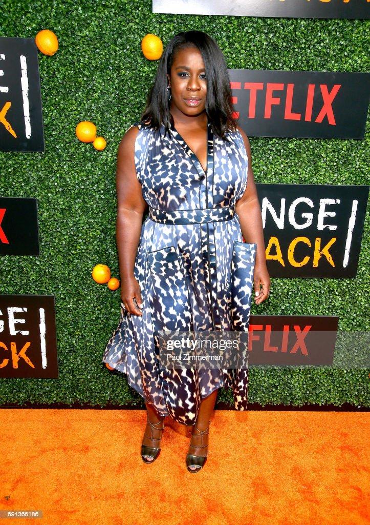 Uzo Aduba attends the 'Orange Is The New Black' Season 5 Celebration at Catch on June 9, 2017 in New York City.