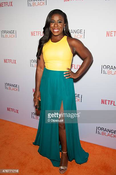 "Uzo Aduba attends the ""Orangecon"" Fan Event at Skylight Clarkson SQ. On June 11, 2015 in New York City."