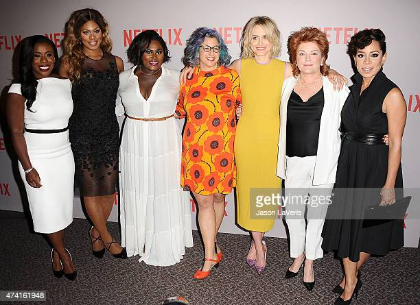 Uzo Aduba Laverne Cox Danielle Brooks Jenji Kohan Taylor Schilling Kate Mulgrew and Selenis Leyva attend Netflix's Orange Is The New Black For Your...