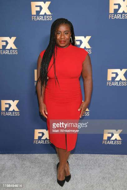 Uzo Aduba of 'Mrs America' attends the FX Networks' Star Walk Winter Press Tour 2020 at The Langham Huntington Pasadena on January 09 2020 in...