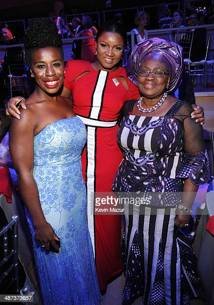 Uzo Aduba Omotola Jalade Ekeinde and Ngozi OkonjoIweala attend the TIME 100 Gala TIME's 100 most influential people in the world at Jazz at Lincoln...