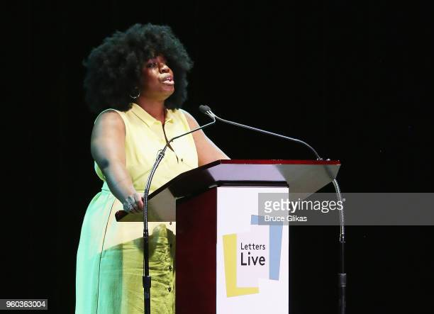 Uzo Aduba performs in the New York debut of the hit show 'Letters Live' at Town Hall on May 19 2018 in New York City