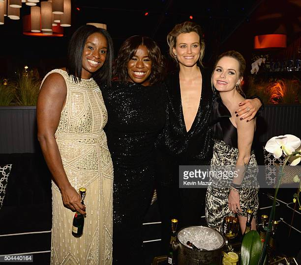 Uzo Aduba Taylor Schilling and Taryn Manning attend The Weinstein Company and Netflix Golden Globe Party presented with DeLeon Tequila Laura Mercier...