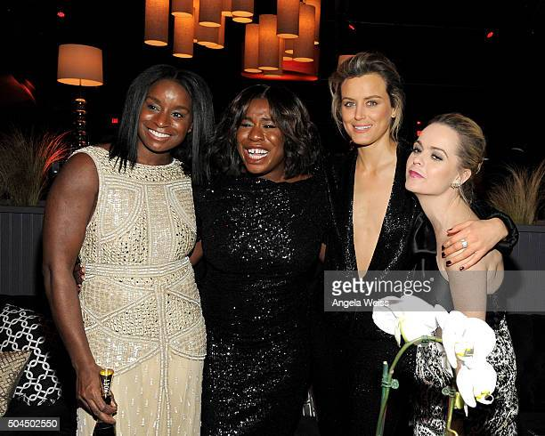 Uzo Aduba, Taylor Schilling and Taryn Manning attend The Weinstein Company and Netflix Golden Globe Party, presented with DeLeon Tequila, Laura...