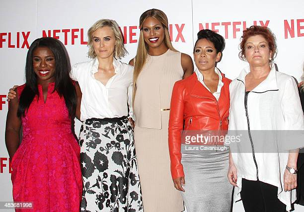 Uzo Aduba Taylor Schilling Laverne Cox Selenis Levya and Kate Mulgrew attend FYC Screening Of Orange Is The New Black at DGA Theater on August 11...