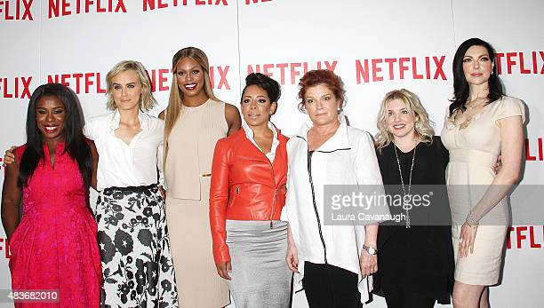 Uzo Aduba Taylor Schilling Laverne Cox Selenis Levya Kate Mulgrew Jennifer Euston and Laura Prepon attend FYC Screening Of Orange Is The New Black at...