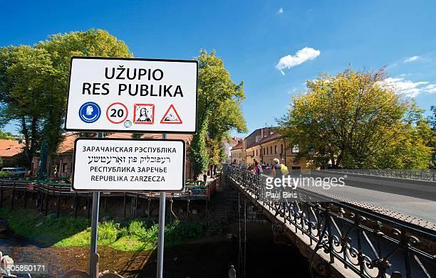 uzupis neighborhood in vilnius - vilnius stock pictures, royalty-free photos & images