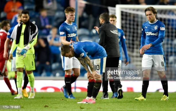 V ABERDEEN.IBROX - GLASGOW.Dejection for Rangers' Barrie McKay at full-time