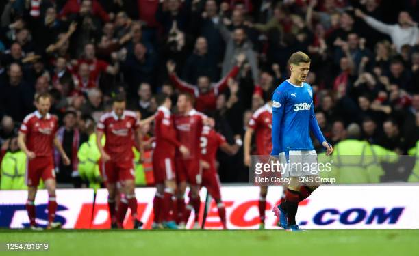 V ABERDEEN.PITTODRIE - ABERDEEN.Dejection for Rangers' Myles Beerman after his side go 2-0 behind