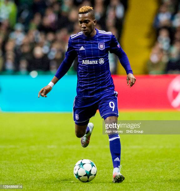V ANDERLECHT . CELTIC PARK - GLASGOW.Henry Onyekuru in action for Anderlecht