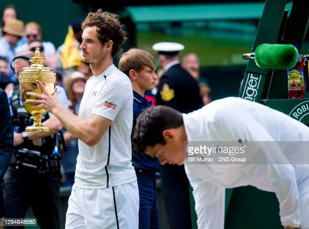 V ANDY MURRAY .The 2016 Wimbledon Gentleman's Singles Winner Andy Murray