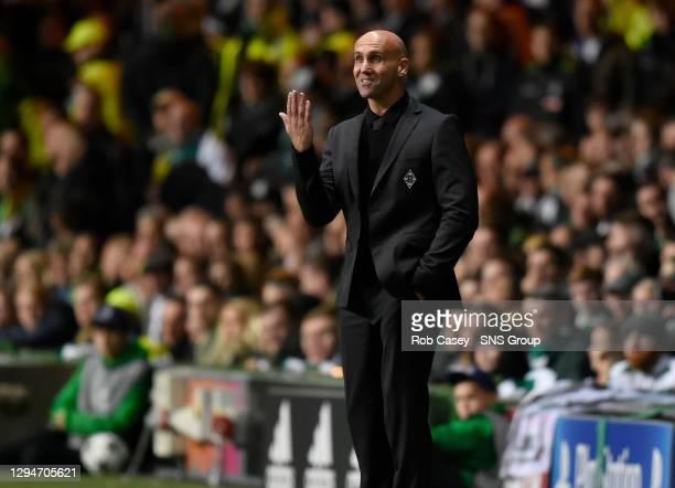 V BORUSSIA MONCHENGLADBACH.CELTIC PARK - GLASGOW .Borussia Monchengladbach manager Andre Schubert