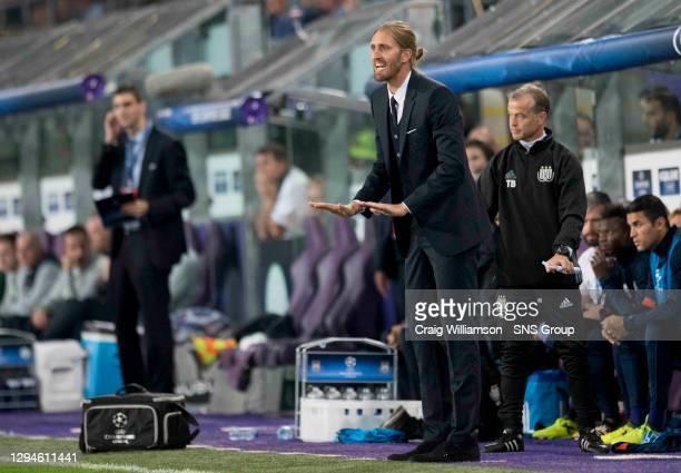 V CELTIC .ANDERLECHT - BELGIUM.Anderlecht manager Nicolas Frutos