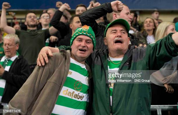 V CELTIC .ANDERLECHT - BELGIUM.Celtic fans celebrate