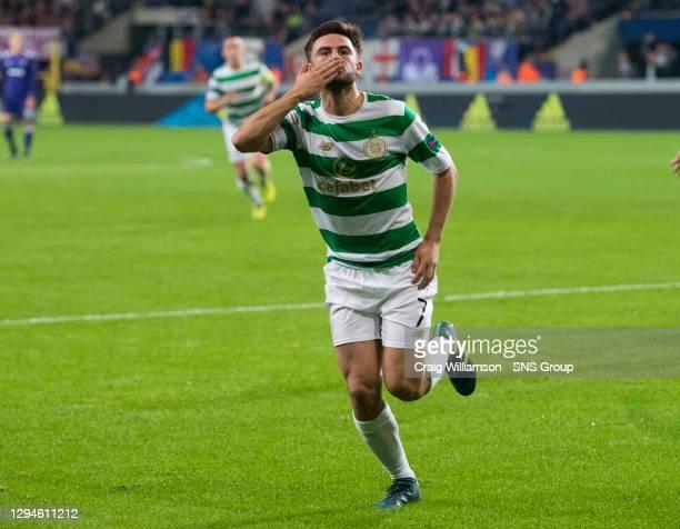 V CELTIC .ANDERLECHT - BELGIUM.Celtic's Patrick Roberts celebrates making it 2-0