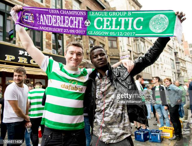 V CELTIC .CONSTANT VANDEN STOCK STADIUM - ANDERLECHT.Celtic fans ..** Please note a fee will apply for use of this image up to and including Thursday...