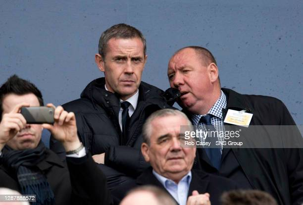 UTD v CELTIC HAMPDEN GLASGOWEx Rangers player and current Everton coach Davie Weir takes in the game