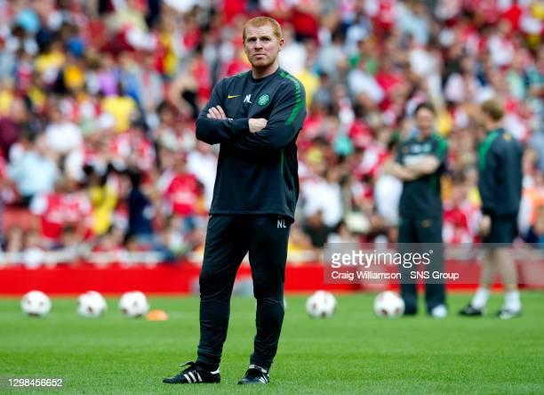 V CELTIC.EMIRATES STADIUM - LONDON.Celtic boss Neil Lennon