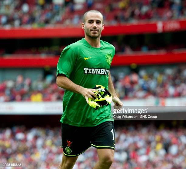 V CELTIC.EMIRATES STADIUM - LONDON.Marc Crosas in action for Celtic
