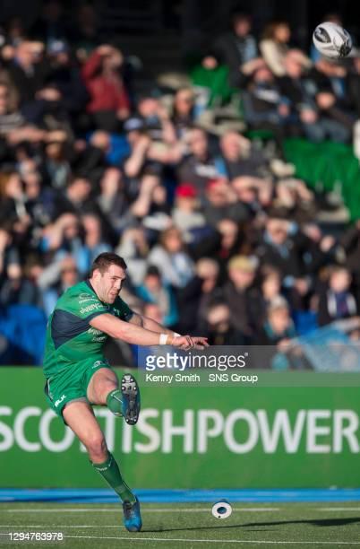 V CONNACHT.SCOTSTOUN STADIUM - GLASGOW.Connacht's Craig Ronaldson attempts a penalty