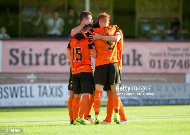 V COWDENBEATH.TANNADICE - DUNDEE.Dundee United's Cammy Smith celebrates scoring goal number 3 for Dundee United
