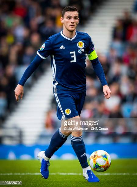 V CYPRUS .HAMPDEN PARK - GLASGOW.Andy Robertson in action for Scotland