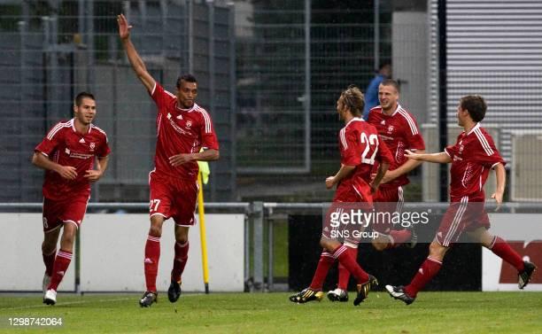 V FALKIRK.VADUZ - LIECHTENSTEIN.Emil Noll the opening goal for Vaduz
