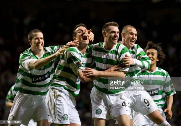 V HEARTS .CELTIC PARK - GLASGOW .Craig Gordon's late own goal gifts Celtic all three points and ignites frantic celebrations from the Parkhead players