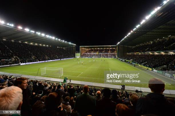 V HEARTS.EASTER ROAD STADIUM - EDINBURGH.A sell-out crowd witnesses the home side, Hibernian, claim victory