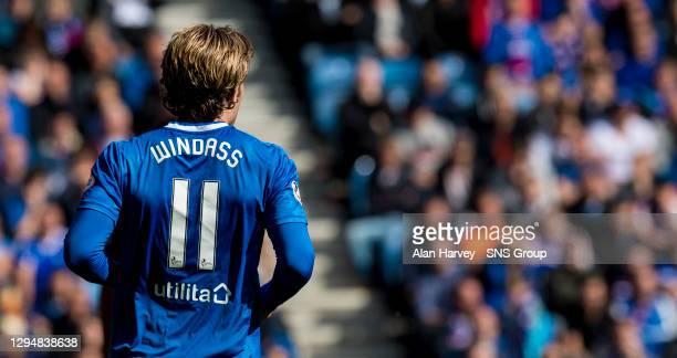 V HIBERNIAN .IBROX - GLASGOW .Rangers midfielder Josh Windass back