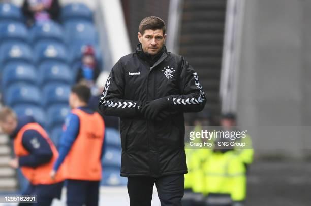 V HJK HELSINKI.IBROX - GLASGOW .Rangers manager Steven Gerrard