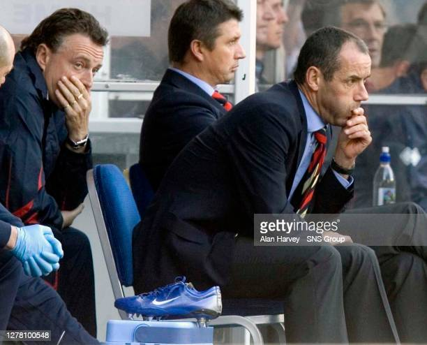 V INVERNESS CT .IBROX - GLASGOW.Paul Le Guen watches his side drop another three points with the Rangers manager's choice of keeper coming under...