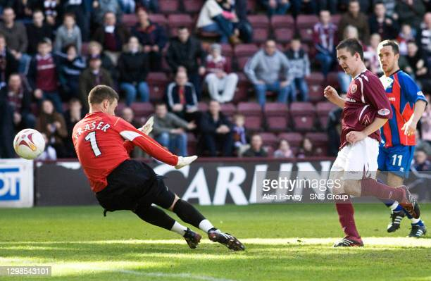V INVERNESS CT .TYNECASTLE - EDINBURGH.Gary Glen scores for Hearts to further enhance his growing reputation