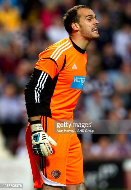 V LIVERPOOL.TYNECASTLE - EDINBURGH.Jamie MacDonald in action for Hearts