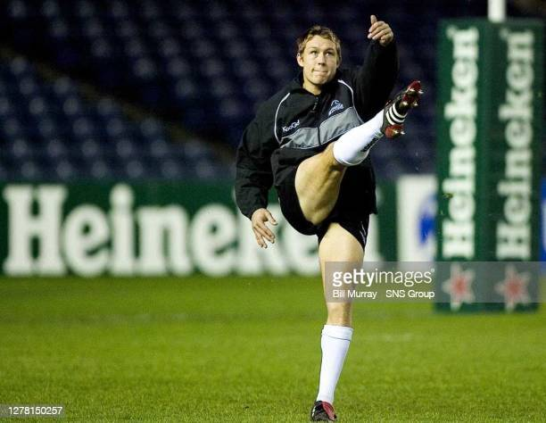 V NEWCASTLE FALCONS .MURRAYFIELD - EDINBURGH .Newcastle fly half Jonny Wilkinson is named on the bench following recovery from a bicep injury.