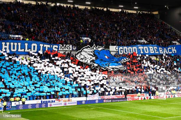 V PROGRES NIEDERKORN .IBROX - GLASGOW .Rangers fans