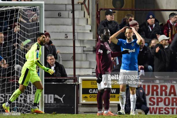 V RANGERS .TYNECASTLE - EDINBURGH .Rangers' Clint Hill is left dejected as the game slips away from his side