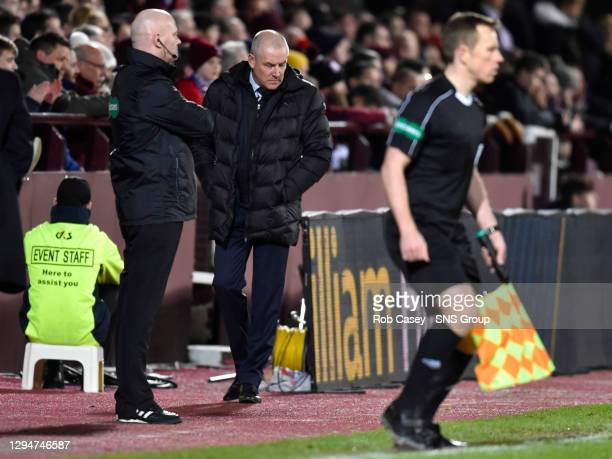 V RANGERS .TYNECASTLE - EDINBURGH .Rangers manager Mark Warburton cuts a dejected figure on the touchline